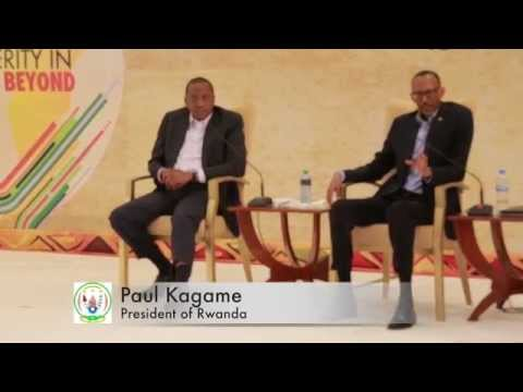 Presidents Kagame and Kenyatta at the East African Business Summit - Kigali 16 October 2014