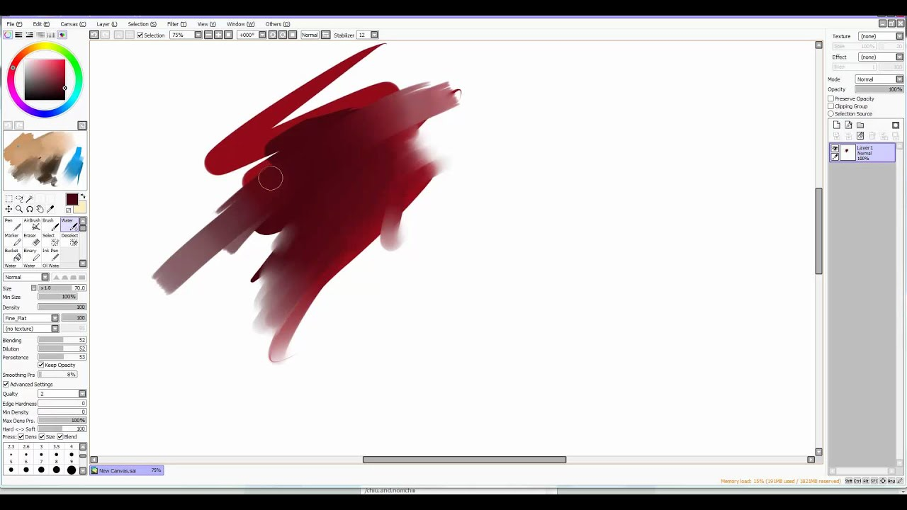 How To Color Lineart In Paint Tool Sai