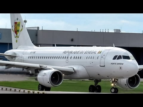 Senegal Government (Presidential flight) A319(CJ) departing Montreal (YUL/CYUL)