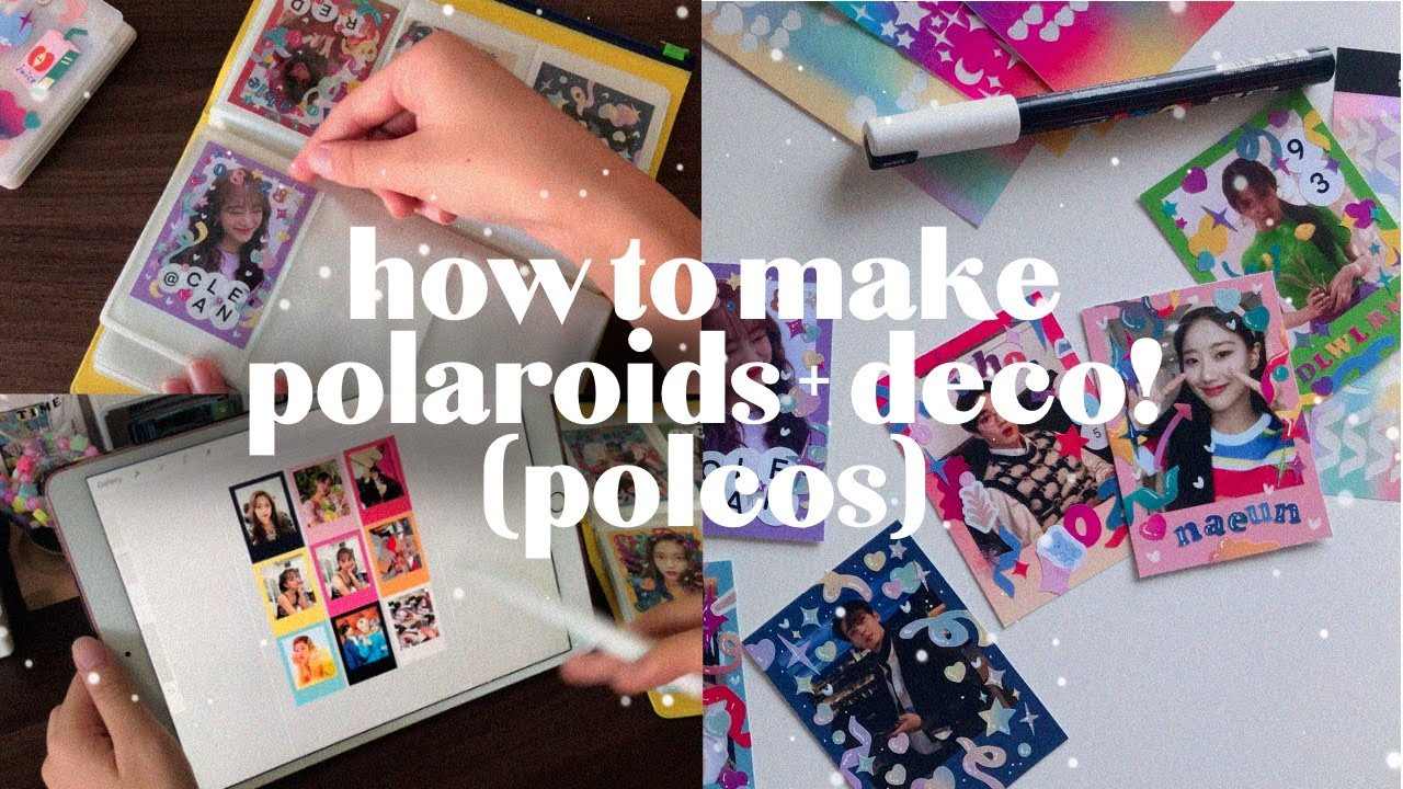 how to make DIY 🌟 kpop polaroids + decorating with stickers 💖 (polcos) ep 1 | jelly record.