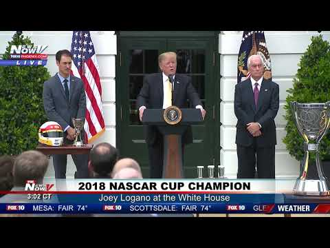 2018 NASCAR CHAMP: President Trump Hosts Joey Logano at the South Lawn