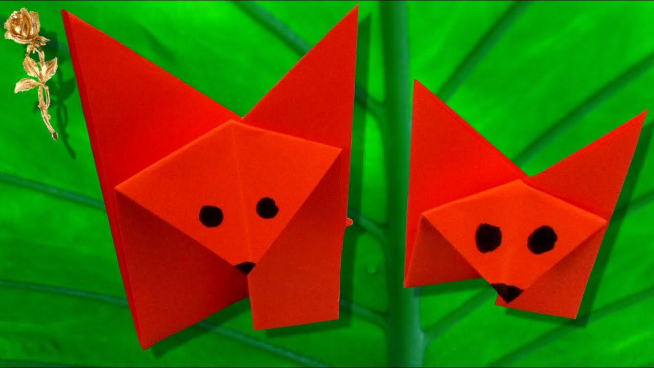 origami facile renard youtube