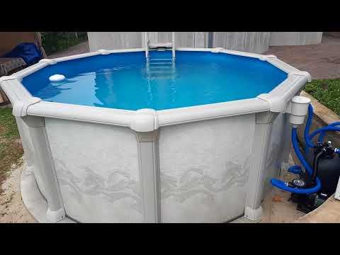 Построить на даче каркасный бассейн своими руками с подогревом воды. Гибралтар J-4000 (круг)!