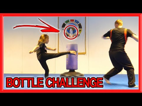 Martial Arts Bottle Challenge | Family Edition | Taekwondo Kick Challenge