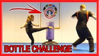 Martial Arts Bottle Challenge | Family Edition | Taekwondo Kick Challenge