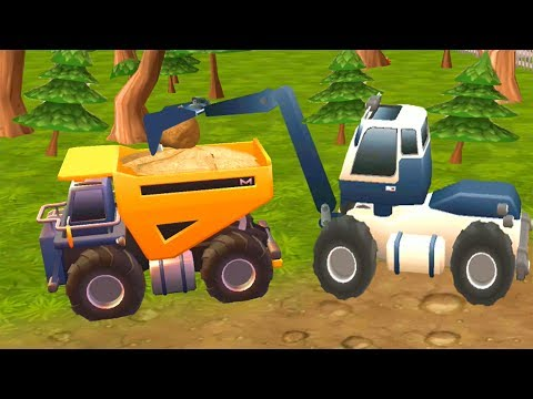 Heavy Excavator and cranes - Toon Series Video for Kids Android Gameplay