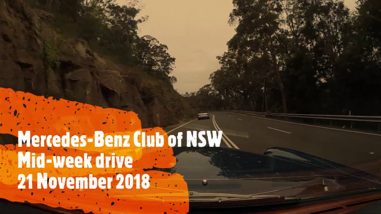 Mercedes-Benz Club of NSW mid-week drive 21/11/18