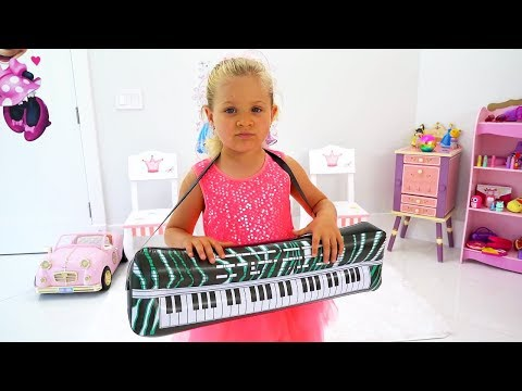 Diana Pretend Play Talent Show With Musical Instruments Toys For Kids