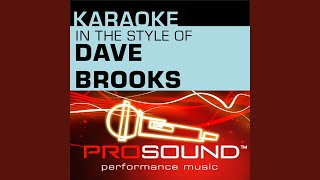 Redeemer, Savior, Friend (Karaoke Instrumental Track) (In the style of Dave Brooks)