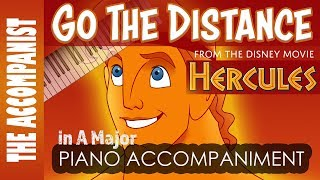 Go The Distance - from the Disney movie 'Hercules' - Piano Accompaniment - Karaoke