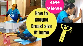 How to Reduce Breast Size at home | Chest Workout|Part 1 |Weight loss tips |Somya Luhadia