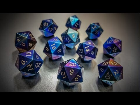 Heat Anodizing Titanium d20s - YouTube