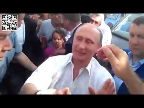 Путин и Порошенко в Крыму