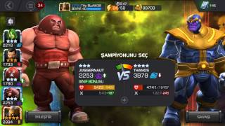 Marvel Şampiyonlar Turnuvası Thanos Dövüşü-FIRTINA