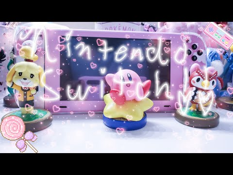 ❤WHAT'S ON MY PINK NINTENDO SWITCH❤Kawaii Accessories & Games