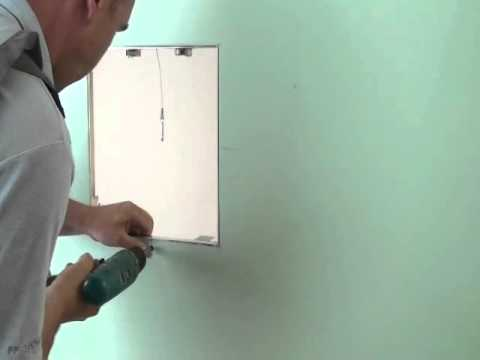 Fitting A Hinged Gypsum Faced Access Panel With Removable