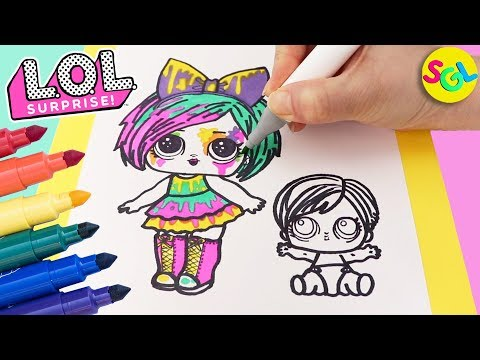 LOL Surprise Hair Goals Splatters Draw & Color: Makeover + Eye Spy Series   Coloring Page for kids
