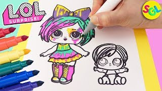 LOL Surprise Hair Goals Splatters Draw & Color: Makeover + Eye Spy Series | Coloring Page for kids