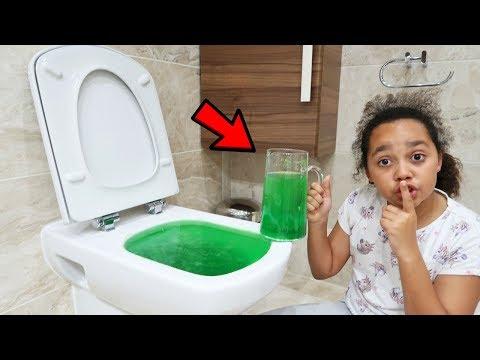 SLIME PRANK IN MY DAD'S TOILET!!
