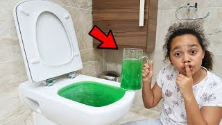 SLIME PRANK IN MY DAD'S TOILET!!