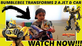 BumbleBee Transformer Jet & RC Car Unbox & Fun!!! | Playtime With Parker | Children's Fun & Learning