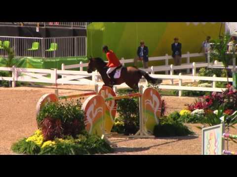 Rio 2016 - Netherland's Jeroen Dubbeldam - 1st Individual Qualifier