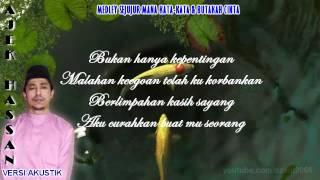 """Sejujur Mana Kata-Kata"" & ""Butakah Cinta"" ~(Acoustic Cover by Ajek Hassan)"