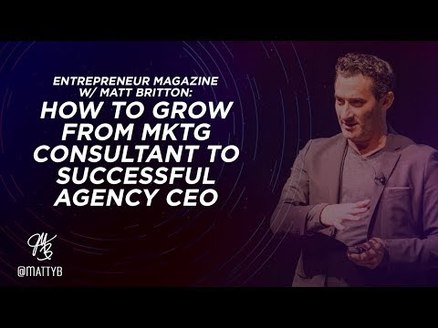 Entreprenuer Magazine Interview: How to Grow from Marketing Consultant to Successful Agency CEO