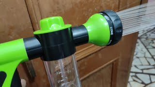 High Pressure Spray Car Wash Snow Foam Water Gun Clean Pipe Washer : Unboxing and Quick Review