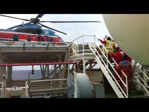Video Chopper is landing on FPSO 9 Oct 14