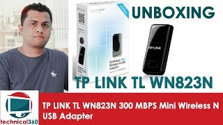 UNBOXING TP LINK TL WN823N 300 MBPS Mini Wireless N USB Adapter