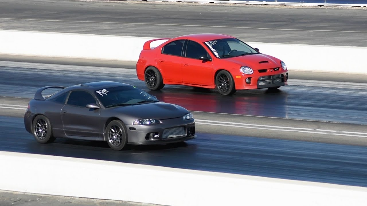 Neon SRT4 Vs Honda Civic Turbo EG Vs Eclipse Turbo - YouTube