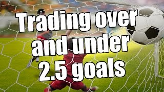 Betfair - Trading Over and Under 2.5 goals - Inter Milan vs Man Utd