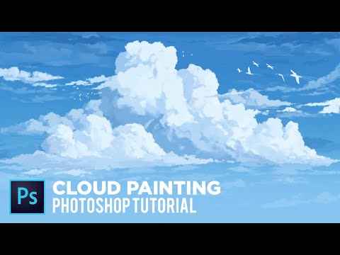 How to Paint Clouds || Photoshop Tutorial thumbnail