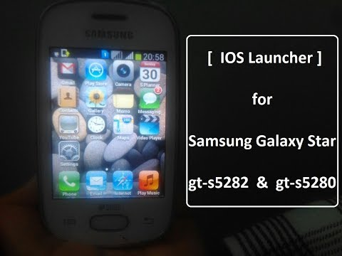 How to Install IOS in Samsung Galaxy Star gt-s5282 & gt-s5280 ( without ROOT )