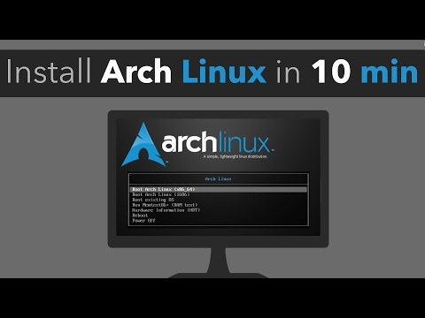 Installing Arch Linux in less than 10 minutes