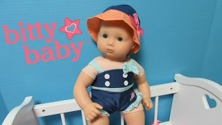 AMERICAN GIRL Bitty Baby Seaside Swim Suit + Hat + Sandals+Giveaway Stay tunned!