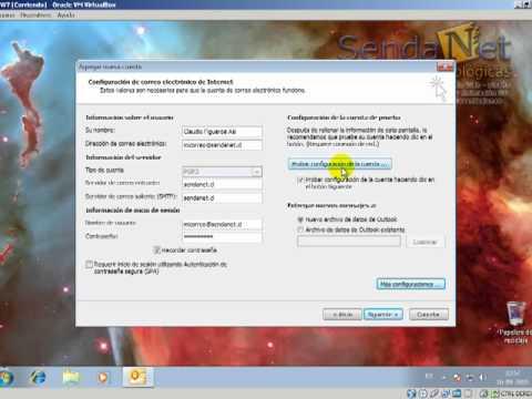 Configuración Microsoft Outlook 2010