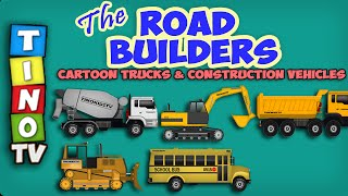 Construction Trucks for Children | Dump Truck & Excavator Cartoon : Video for Kids