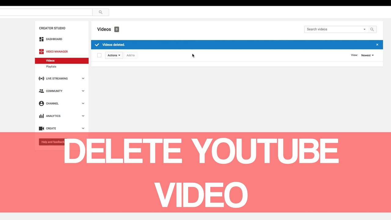 How to remove video from youtube 89