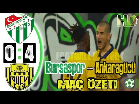 Bursaspor 0-4 Ankaragücü Maç Özeti - HD - 26/09/2021