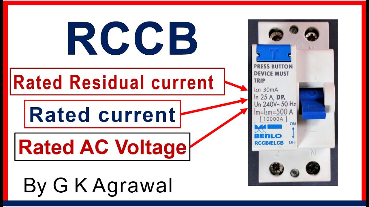 Rccb Breaker Rating Plate Data Printed On The Rccb Youtube