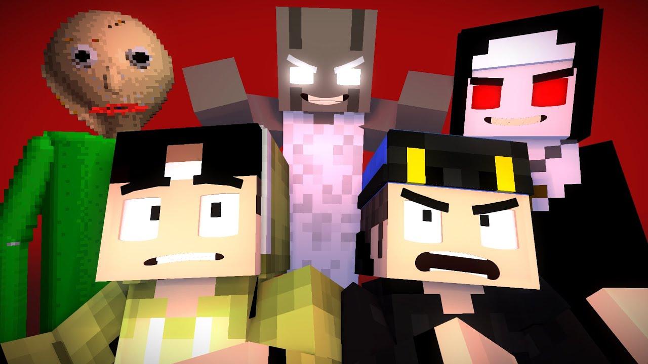 Erpan & Master Bijix si Master Game Horror - Animasi Minecraft Indonesia