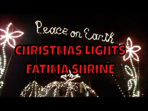 Christmas Lights at the Fatima Shrine ~ Holliston Ma