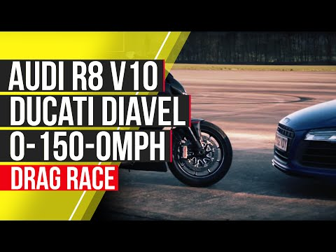 Audi R8 V10 Plus vs Ducati Diavel: 0-150-0mph - autocar.co.uk