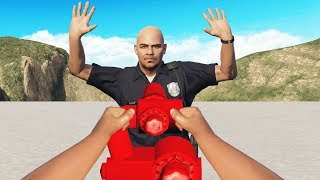 Cop Pulls Me Over So I Spray Him Down! (GTA RP)