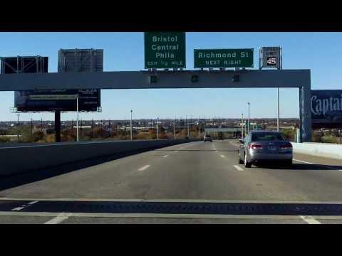 Betsy Ross Bridge westbound [ALTERNATE TAKE]