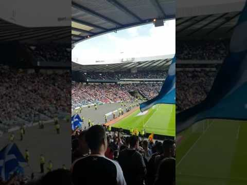 Loch Lomond sung by Scotland fans at half time against England at Hampden