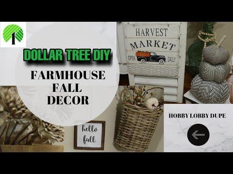 DOLLAR TREE DIY FARMHOUSE FALL DECOR
