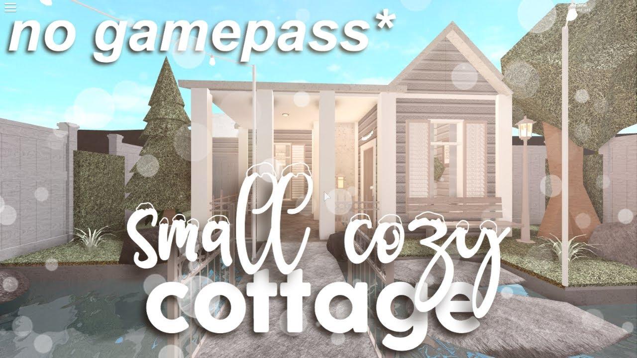 Roblox Bloxburg No Gamepass Small Cottage House Build